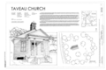 Cover Sheet - Taveau Church, State Road S-8-44, Cordesville, Berkeley County, SC HABS SC-389 (sheet 1 of 9).png