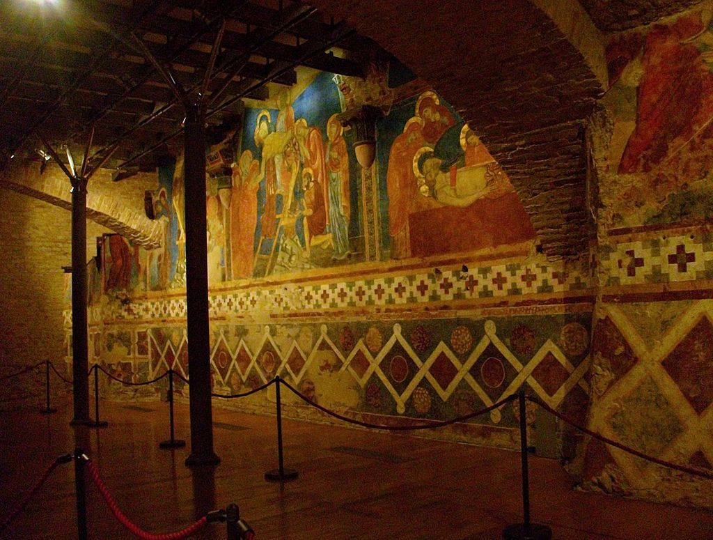 The Crypt or undercroft beneath Siena Cathedral