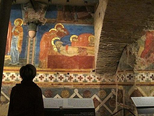 Cripta del duomo di siena, sepoltura