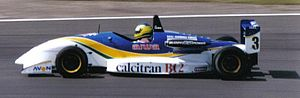 Cristiano da Matta - Da Matta driving for West Surrey Racing at Silverstone during the 1995 British Formula 3 Championship season.