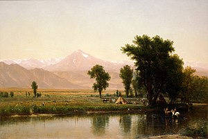 Worthington Whittredge - Crossing the River Platte, 1871, hanging in White House Roosevelt Room
