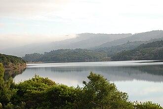 Crystal Springs Reservoir - Lower Crystal Springs Reservoir as viewed from the Sawyer Camp Trail