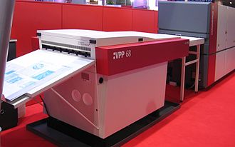 Computer to plate - Agfa Advantage DL violet laser fotosetter with VPP68 plate processor