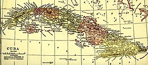 Santa Clara Province - Cuba's provinces as shown on a 1910s map