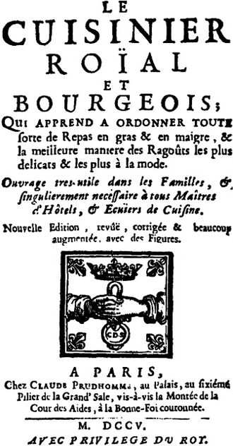 François Massialot - Image: Cuisinierroial