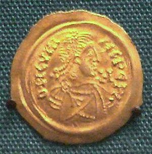 Kingdom of the Lombards - A coin of Cunipert (688-700), king of the Lombards, minted in Milan.