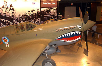 Alta Loma, Rancho Cucamonga, California - P-40 Warhawk like those flown by the Flying Tigers