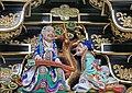 Décor de la porte Yomei-mon du sanctuaire shinto Toshogu de Nikko (Japon) (42520906714).jpg