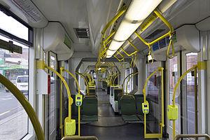 D-class Melbourne tram - Interior of a D2-class, 2013