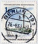 DBPB 1965 264 Fernmeldeturm Schäferberg-gestempelt.jpg