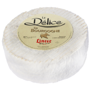 Délice de Bourgogne cheese 2Kg is exclusively produced by Fromagerie Lincet