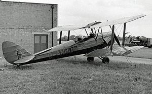 Ipswich Airport - This Tiger Moth was based at Ipswich Airport during 1954/55