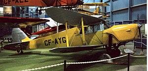 De Havilland Hornet Moth - DH.87A Hornet Moth retaining the original tapered wing design. Wetaskiwin, Alberta, June 1996