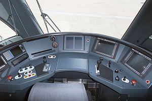 Stadler KISS - Image: DOSTO Train Cockpit (4678343598)