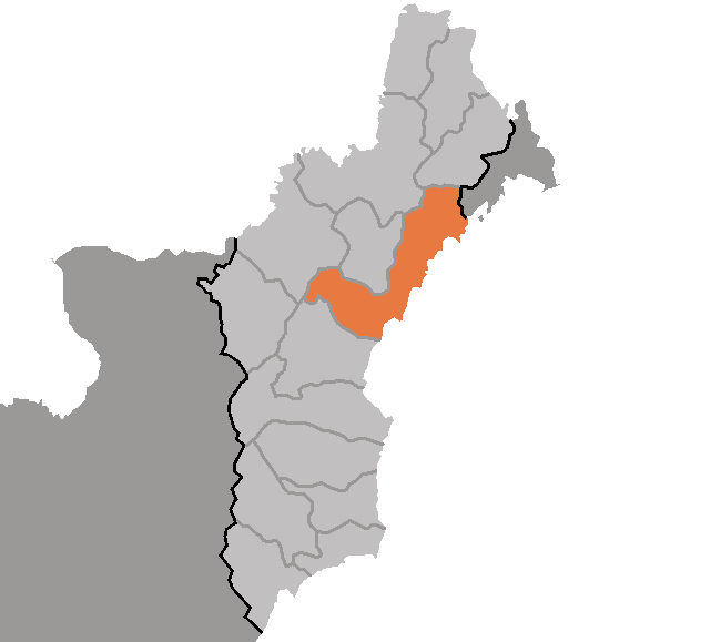 Map of North Hamgyong showing the location of Chongjin