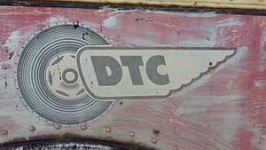 Denver Tramway - Denver Tramway Corporation logo on trolleybus No. 553