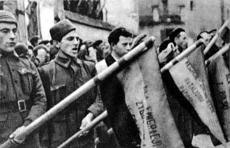Foreign involvement in the Spanish Civil War - Polish volunteers fighting for the Republic.