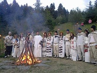 Religion in Romania - Zalmoxian fire rite