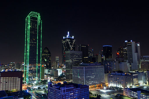 Dallas at Night from South