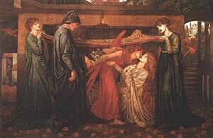 Dante's Dream - Image: Dante Gabriel Rossetti Dante's Dream at the Time of the Death of Beatrice (1871)