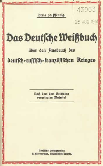 The German White Book - cover from The National Archives (United Kingdom)