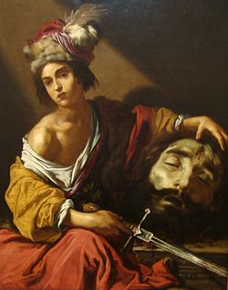 داود پس از کشتن غول جالوت، اثر کلود وینیون، ???? میلادی، در موزه هنر بلانتون در تگزاس