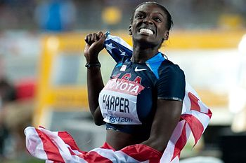 English: Dawn Harper during 2011 World champio...