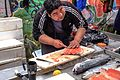 Day trip from Puerto Varas to Isla Grande de Chiloe - a market tour in Ancud, Chile, with our local guide - a very large portion of Chile's economy is based on fish - (24558255503).jpg