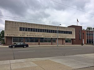 Dayton Metro Library - Former Main Library in Downtown Dayton in 2015