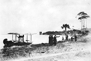 Daytona Beach International Airport - 1916 photo of a seaplane at Daytona