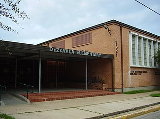 History of Mexican Americans in Houston - De Zavala Elementary School (modern building pictured) was the first majority ethnic Mexican school in Houston