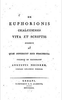 Euphorion of Chalcis Ancient Greek poet