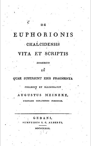 Publius valerius cato wikivividly euphorion of chalcis front cover of euphorions biography written by august meineke in latin fandeluxe Image collections