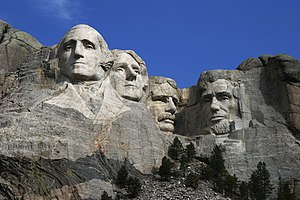English: Mount Rushmore National Memorial, a g...