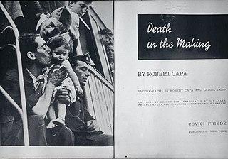 <i>Death in the Making</i> 1938 book by Robert Capa and Gerda Taro