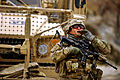 Defense.gov News Photo 111126-F-FT240-055 - U.S. Army Staff Sgt. Mark Lynas calls for a member of his team during a mission in Shah Joy Afghanistan on Nov. 26 2011. Lynas a squad leader.jpg