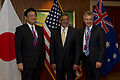 Defense.gov News Photo 120602-D-BW835-551 - Japanese Senior Vice Minister of Defense Watanabe Shu Secretary of Defense Leon E. Panetta and Australian Minister of Defense Stephen Smith pose for.jpg