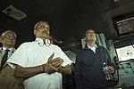 Defense Secretary Ash Carter tours the USS Dwight D. Eisenhower with Minister of Defense Manohar Parrikar.jpg