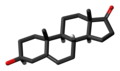Dehydroepiandrosterone molecule skeletal.png