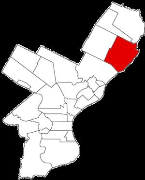 Delaware Township, Philadelphia County, Pennsylvania - Image: Delaware Twp 1854