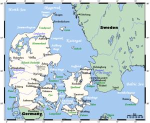 sverige danmark karta Danmarks geografi – Wikipedia sverige danmark karta