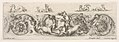 Design for a Frieze with Acanthus Scrolls and a Child flanked by Dogs in the Center, Plate 8 from- 'Decorative friezes and foliage' (Ornamenti di fregi e fogliami) MET DP833574.jpg