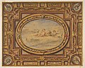 Design for a painted ceiling with putti on clouds in a central oval MET DP811573.jpg