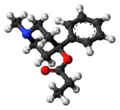 Desmethylprodine molecule ball.png