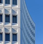 Detail of Distinction Hotel facade, Christchurch, New Zealand 06.jpg