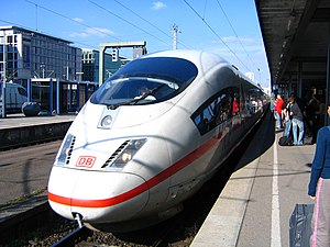 Transport in Germany - InterCityExpress train at Stuttgart Hauptbahnhof