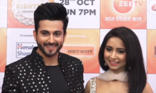Dheeraj Dhoopar with his Vinny Arora at Zee Rishtey Awards 2018.png