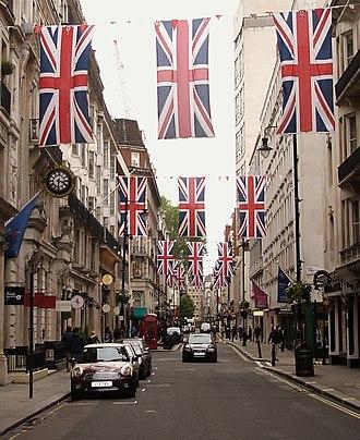 Jermyn Street - Jermyn Street decorated for Queen Elizabeth II's Diamond Jubilee in 2012