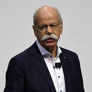 Dieter Zetsche German businessman and CEO and Chairman of Daimler AG and head of Mercedes-Benz cars