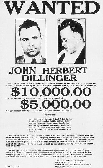 The Dillinger Gang - Image: Dillingerwantedposte r